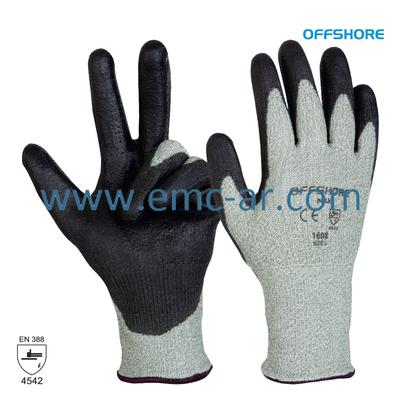 Manusa tricotata din Dyneema/fibre sintetice/fibre de sticla cu aplicatii PU pe palma MAX