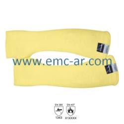 Manecute prot. antitermica cat.II tesatura groasa Kevlar SLEEVES, 56 cm lungime/buc