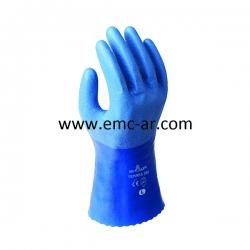Manusa din nailon/poliester impreganta cu PU respirabil + nitril pe degete
