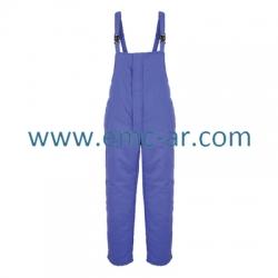 Pantalon cu pieptar vatuit IVAN 100% bumbac 300 g/mp ( -AE)