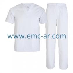 Costum alb din tercot medic MEDA