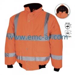 Jacheta pilot impermeabila de iarna reflectorizanta (portocalie) OSLO