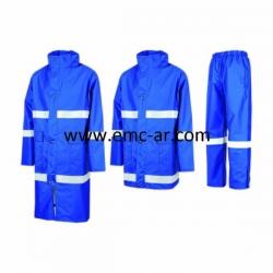 Costum antistatic impermeabil cu benzi reflectorizante TROLL (comanda min. 10 buc)