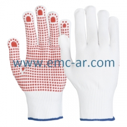 Manusa de protectie din tricot sintetic cu aplicatii punctiforme PVC CORLA