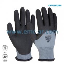 Manusa tricotata nylon, cu aplicatii din latex pe palma, protectie la temp. scazute HPT ICE