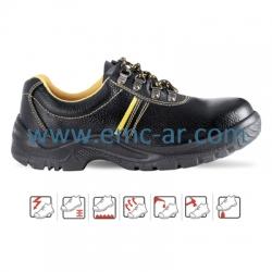Pantof de protectie cu bombeu metalic si lamela antiperforatie HUBEI S1P