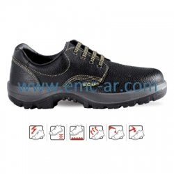 Pantof de protectie cu bombeu metalic BARI S1