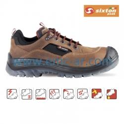 Pantof de protectie cu bombeu compozit si lamela antiperforatie NM, BROWN LAND S3