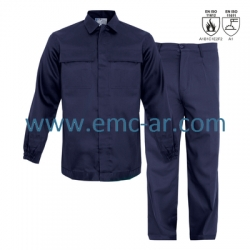 Costum salopeta standard din bumbac ignifugat FLAME