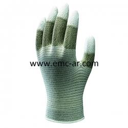 Manusa ESD tricotata din nailon impregnata cu PU pe varful degetelor